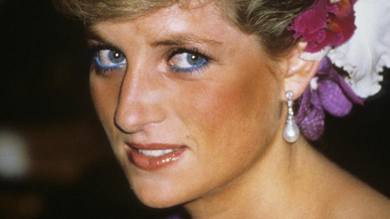 Princess Diana grimacing