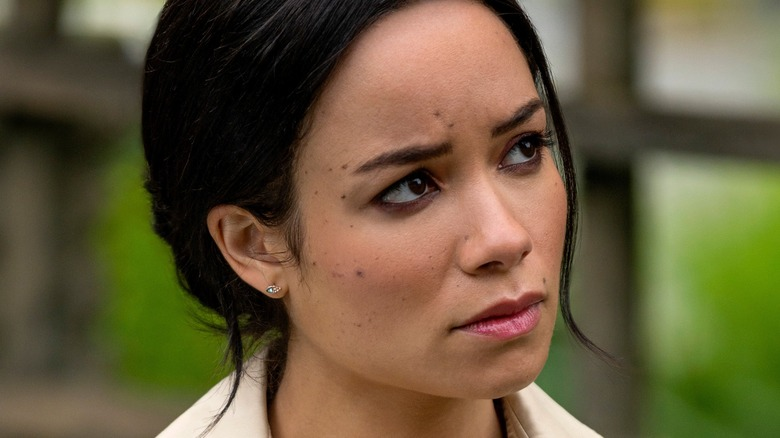 Sydney Morton as Meghan Markle in Harry & Meghan: Escaping the Palace