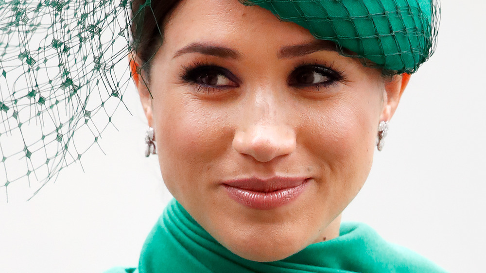 Meghan Markle, the Duchess of Sussex, wearing emerald green at an event