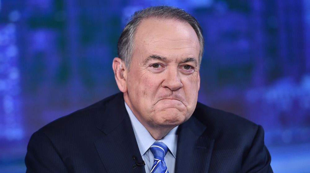 Mike Huckabee smile-frowning