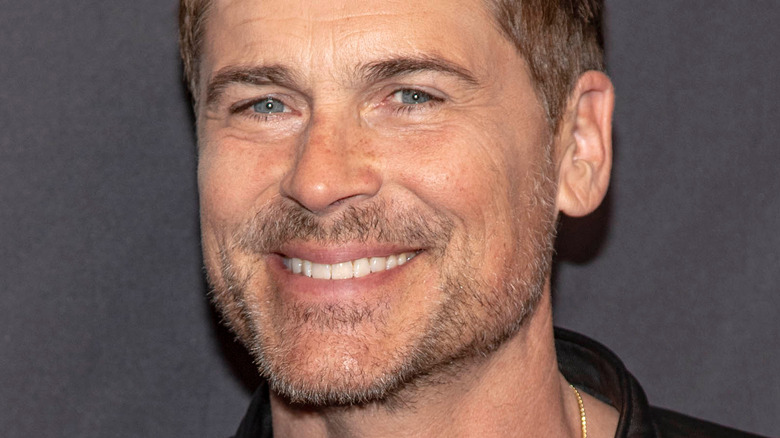 Rob Lowe smiling at 2019 Paley Fest