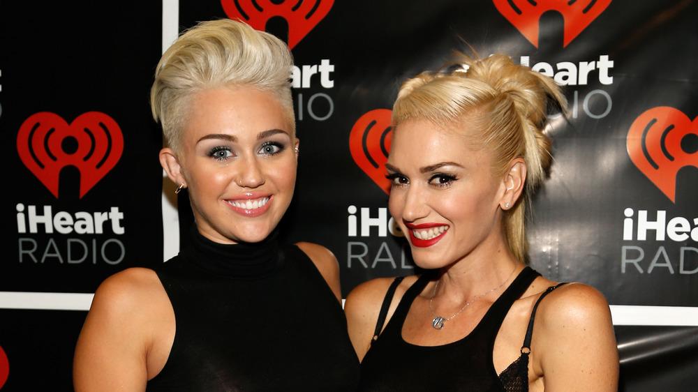 Miley Cyrus and Gwen Stefani at the iHeart Radio Awards 2012