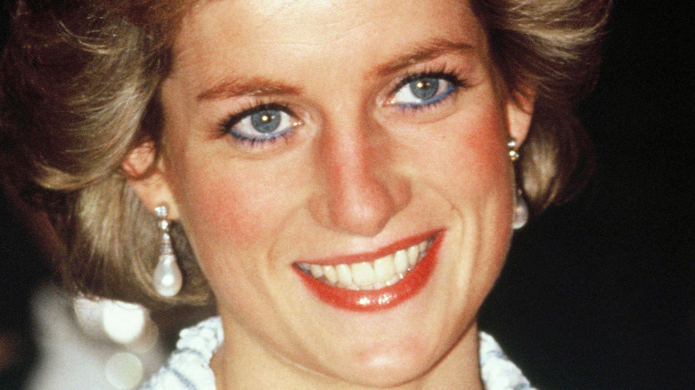 Diana, Princess of Wales, attends a dinner in France in 1988