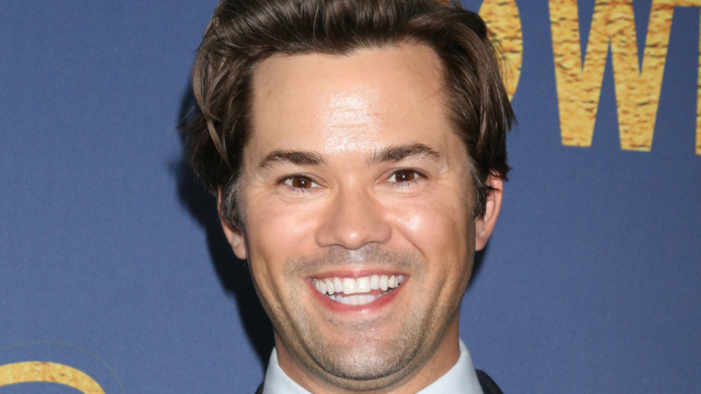 Andrew Rannells smiling bigly