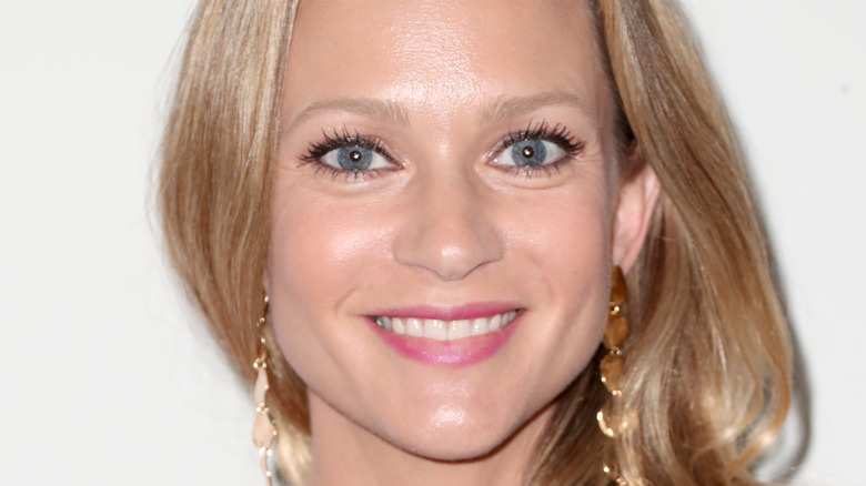 A.J. Cook smiles on the red carpet