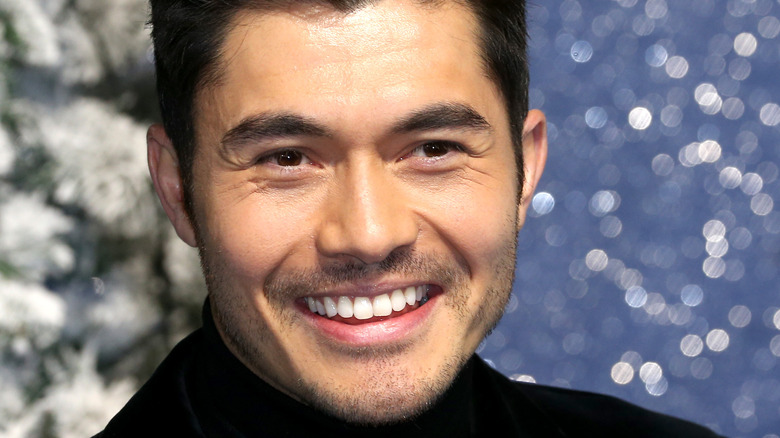 Henry Golding on the red carpet