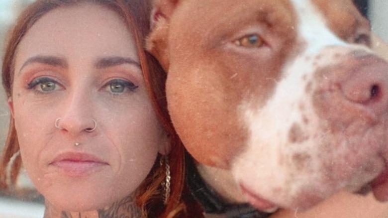 Mariah Torres selfie with dog