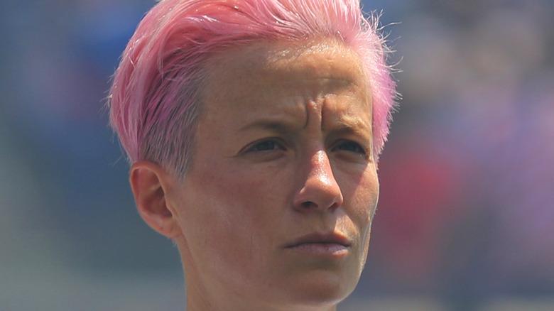 Megan Rapinoe pink hair