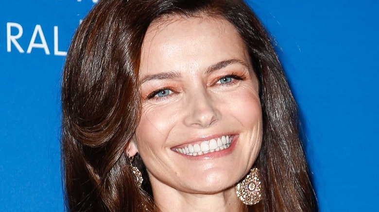 Paulina Porizkova smiling on the red carpet