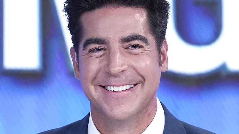 """Fox News cohost of """"The Five"""" Jesse Watters on set  2019"""