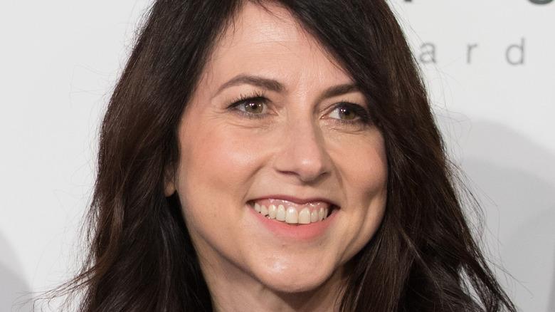 Mackenzie Scott smiles during an Amazon.com event
