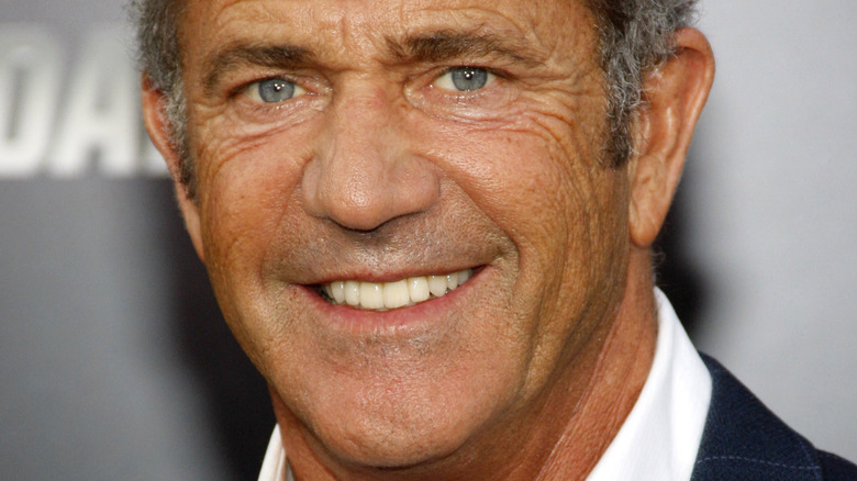 Mel Gibson smiling at an event