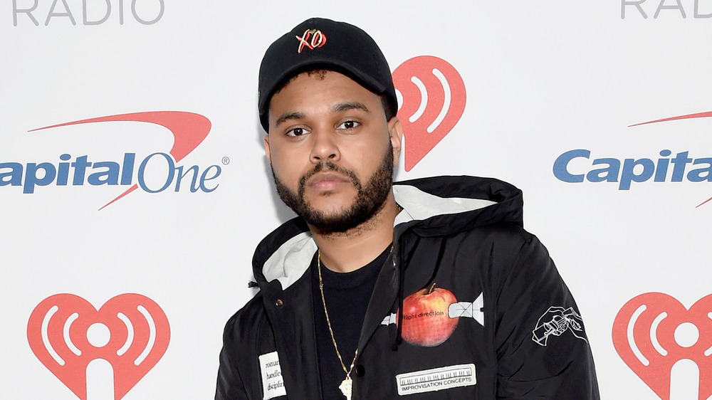 The Weeknd at an IHeartRadio event