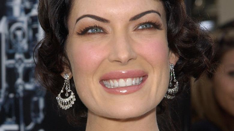 Actress Lara Flynn Boyle smiling