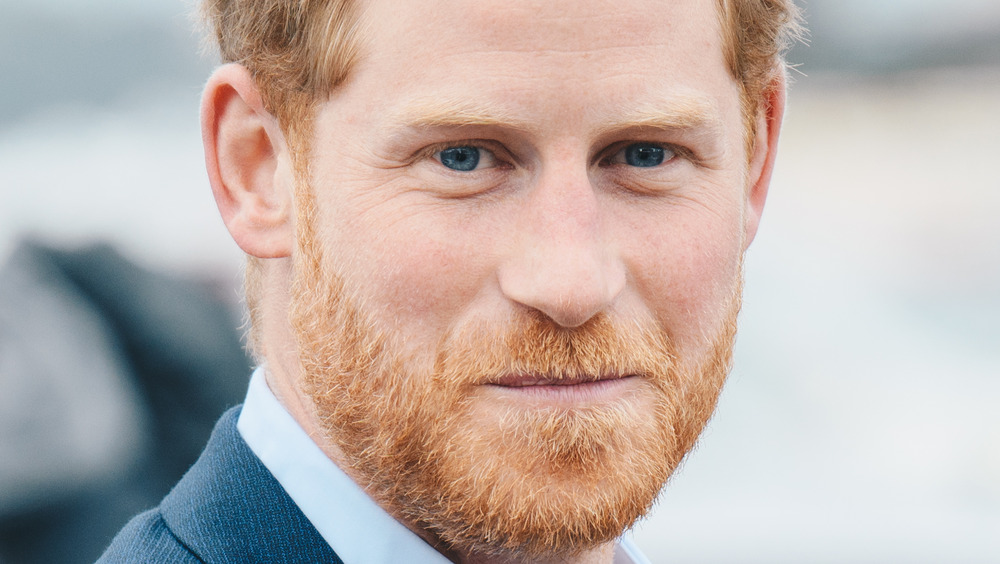 Prince Harry closed mouth