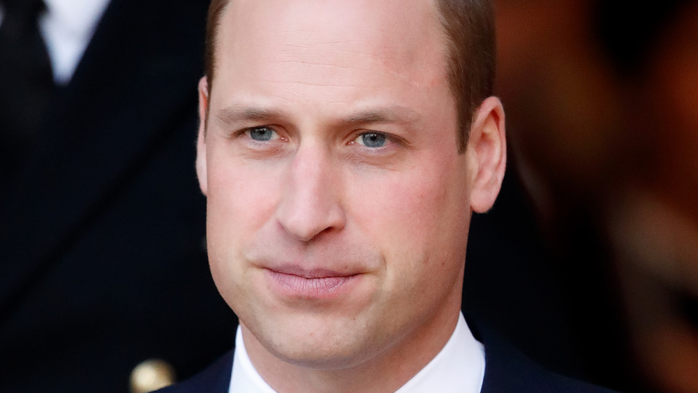 Prince William staring off into the distance