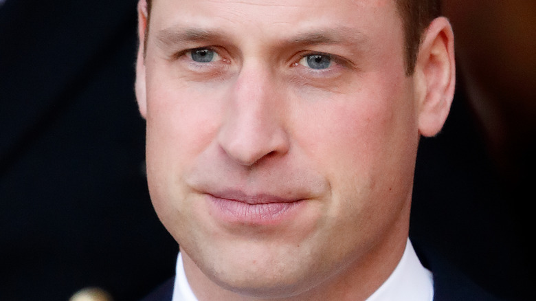Prince William serious face