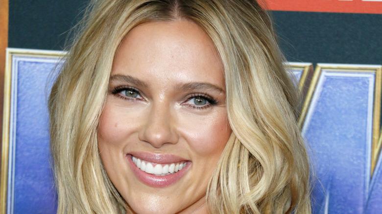 Scarlett Johansson smiling 2019