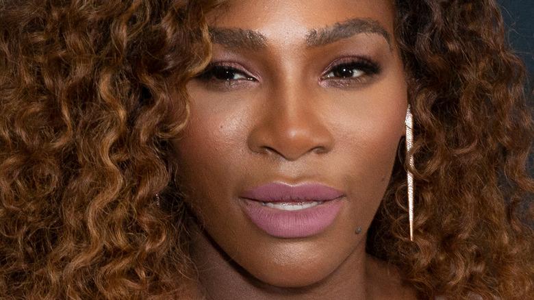 Serena Williams playing tennis