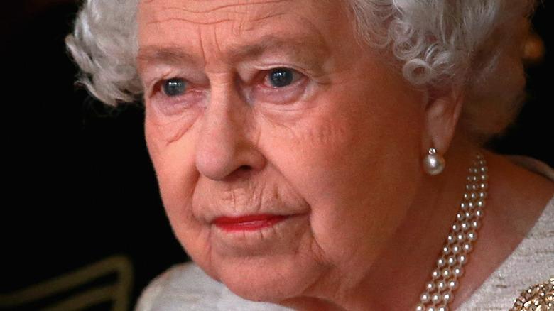 Queen Elizabeth II looking into the distance
