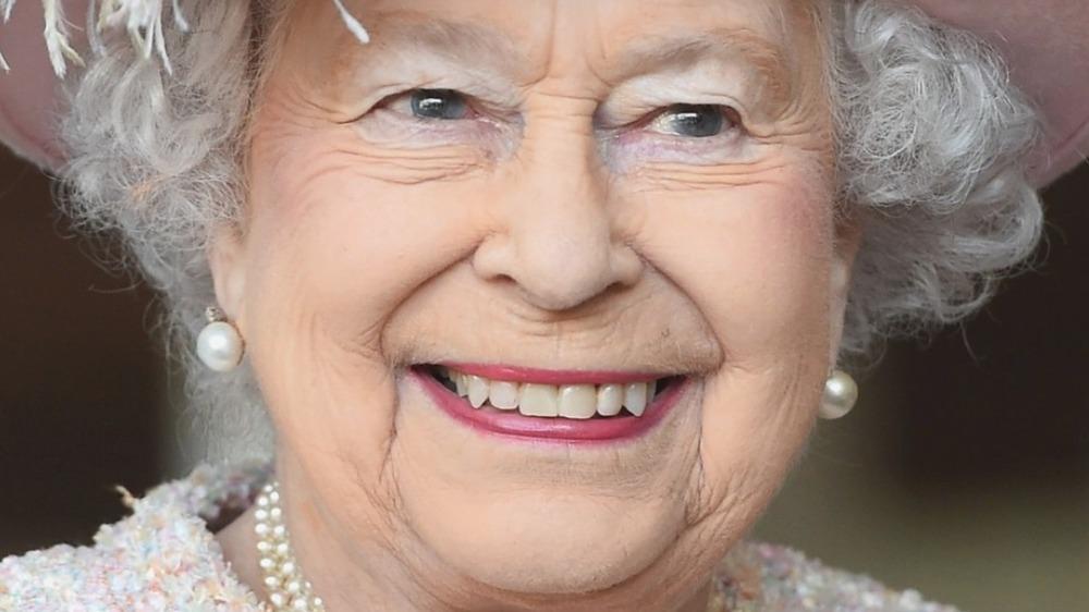 Queen Elizabeth smiling in 2017