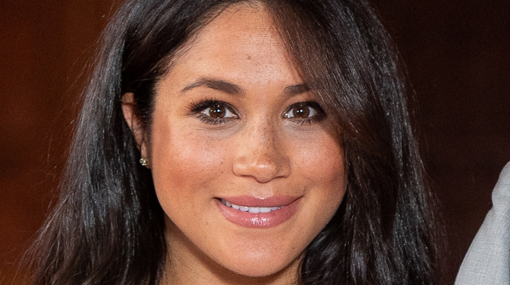 Meghan Markle with freckles