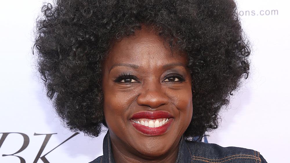 Viola Davis on a red carpet
