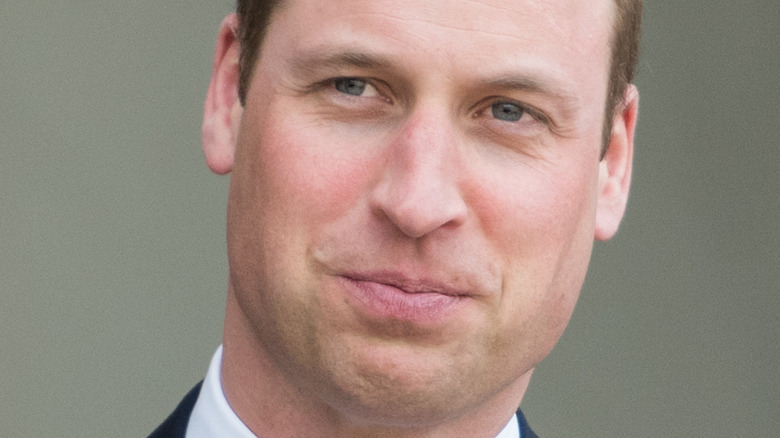 Prince William pursed lips