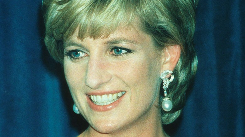 Lady Diana Spencer smiles at the 41st annual United Cerebral Palsy Awards gala in New York City 1995