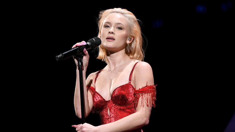 Zara Larsson performing on stage