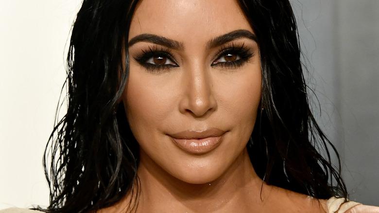 Kim Kardashian, 2020 photo, smiling