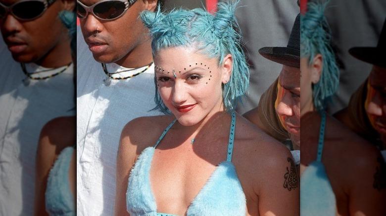 Gwen Stefani in bikini top and bindi
