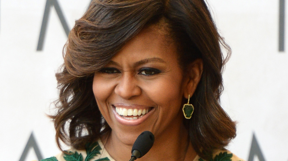 Michelle Obama speaking to an audience