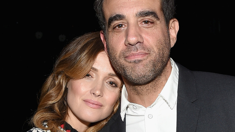 Rose Byrne and Bobby Cannavale smiling