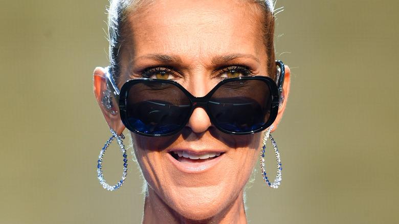 Celine Dion smiling on stage