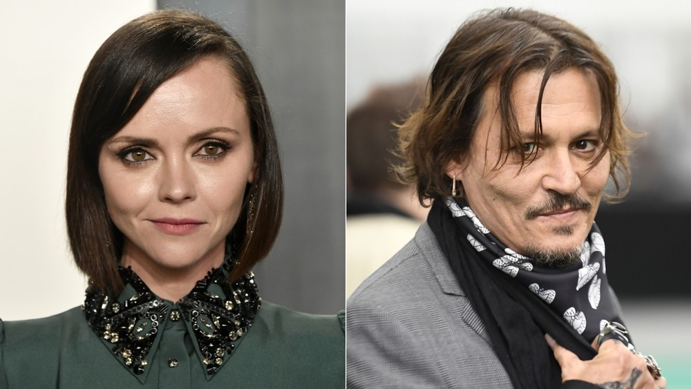 Christina Ricci and Johnny Depp