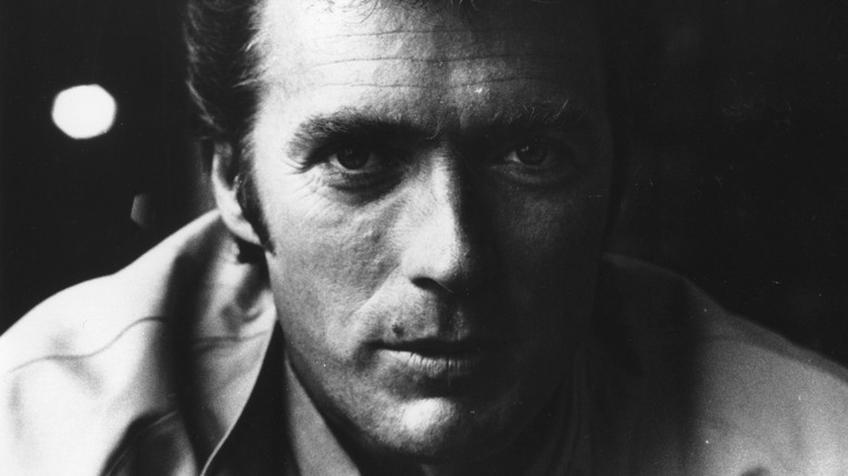 Clint Eastwood posing