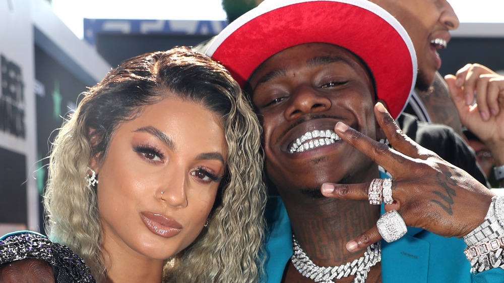 DaBaby and DaniLeigh at the BET Awards