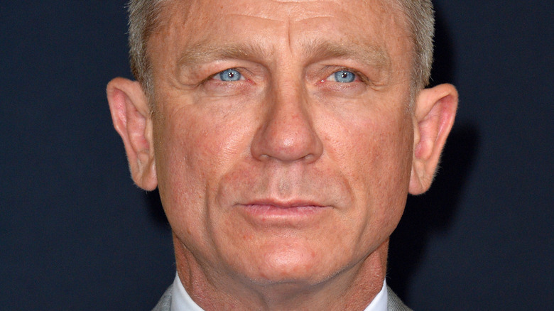 Daniel Craig with a serious expression