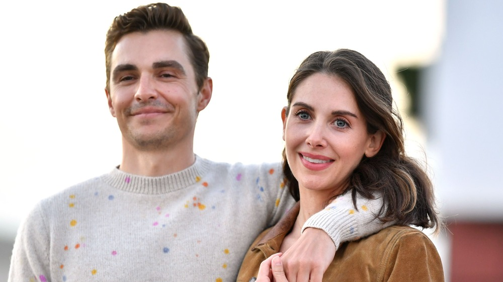Dave Franco and Alison Brie attending a The Rental drive-in screening