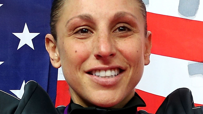 Diana Taurasi in front of American flag