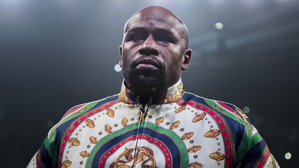 Floyd Mayweather stares into the distance