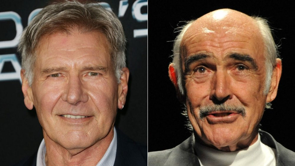 Harrison Ford at the Ender's Game premiere; Sean Connery at AFI's Night at the Movies