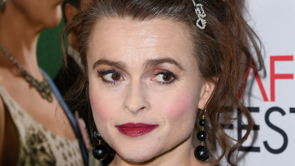 Helena Bonham Carter staring to the side