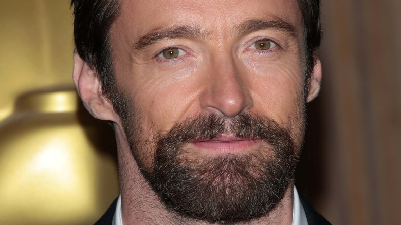 Hugh Jackman with a neutral expression