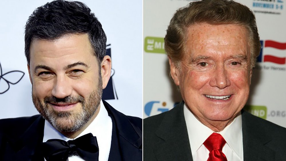Jimmy Kimmel and Regis Philbin