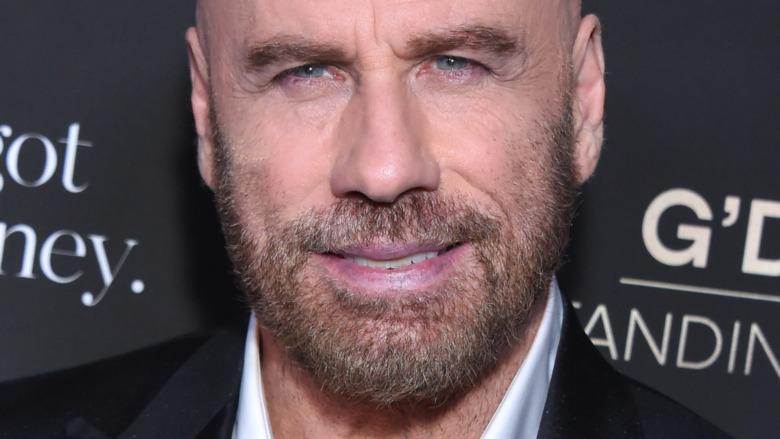 John Travolta posing