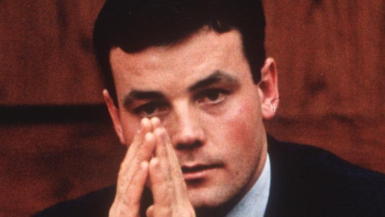 John Wayne Bobbitt testifying in court