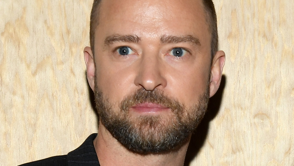 Justin Timberlake with wide eyes