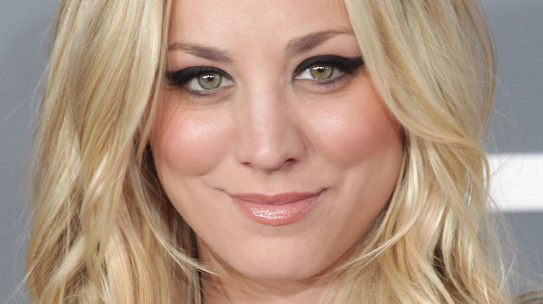Kaley Cuoco smiling on the red carpet